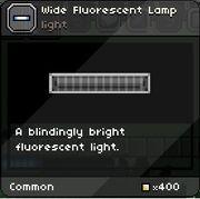 Fluorescent Lamp tooltip