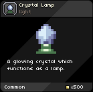 Crystal Lamp tooltip