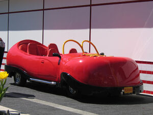 Ronald McDonald's shoe car