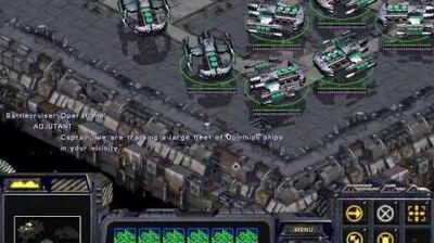 Starcraft Brood War - Terran Campaign Mission 2 - The Dylarian Shipyards Walkthough Lets Play