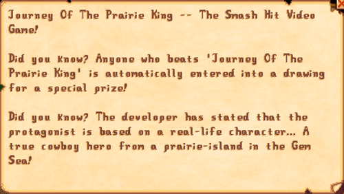 Journey Of the Prairie King -- The Smash Hit Video Game!