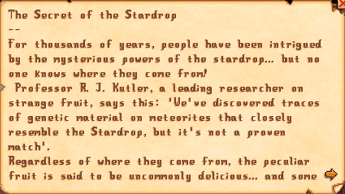 The Secret of the Stardrop