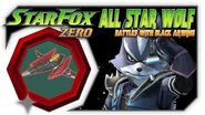Star Fox Zero - ALL Star Wolf Battles With The Black Arwing! Wii U Gameplay With GamePad