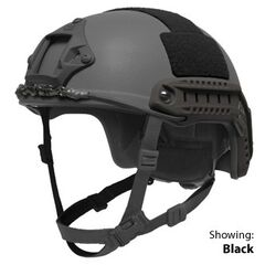 Combat helmet with attachment points