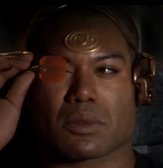 Teal'c with HUD headset