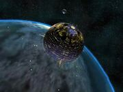 Moonbase over Earth in SO2
