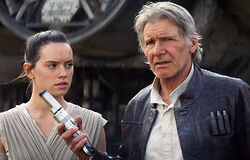 Rey and Han Solo