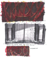 Coruscant Sith temple concept art