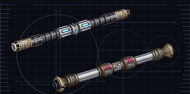 File:Jedi Double-bladed lightsabers.jpg