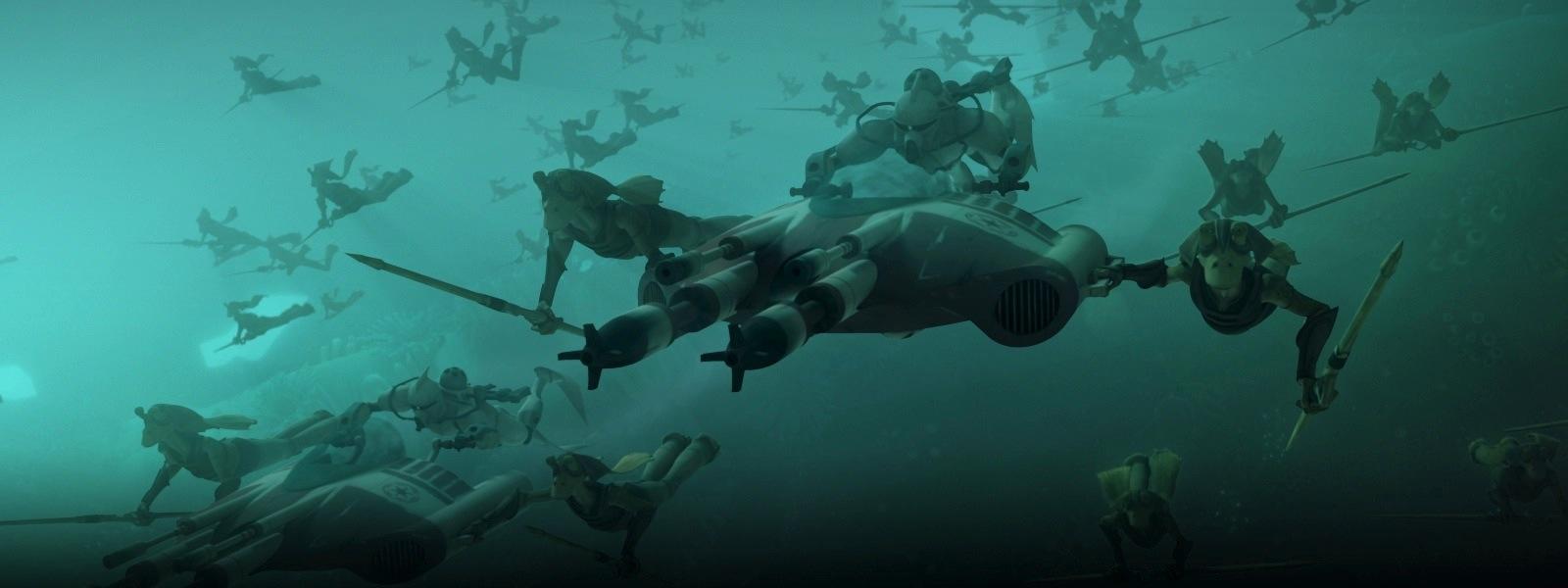 the armchair squid the clone wars gungan attack