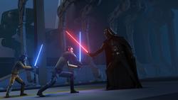 Kanan and Ezra face Darth Vader.png