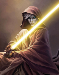 Asajj Ventress yellow lightsaber