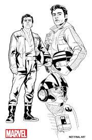 Poe Dameron comic sketches