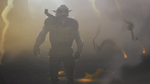 Zeb, emerging from mist