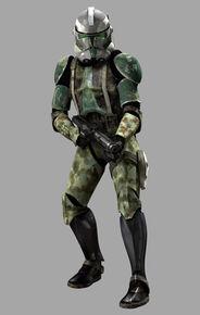 Commander Gree in Personalized Jungle Camo Phase 2 Armor