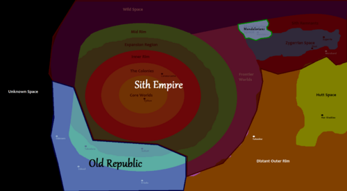 Map of the Galaxy-Factions