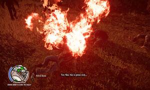 Blaze of Glory-petrol bomb