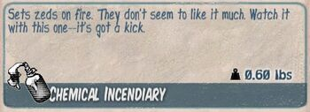 Chemical incendiary