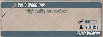 Solid Wood Oar
