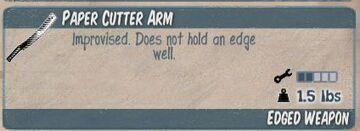 Paper Cutter Arm