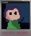 Silver Knight Foil 4