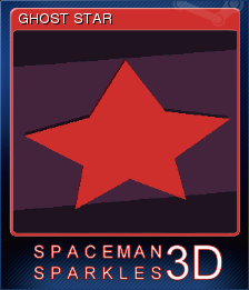 Spaceman Sparkles 3D Card 7