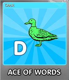 Ace Of Words Foil 4