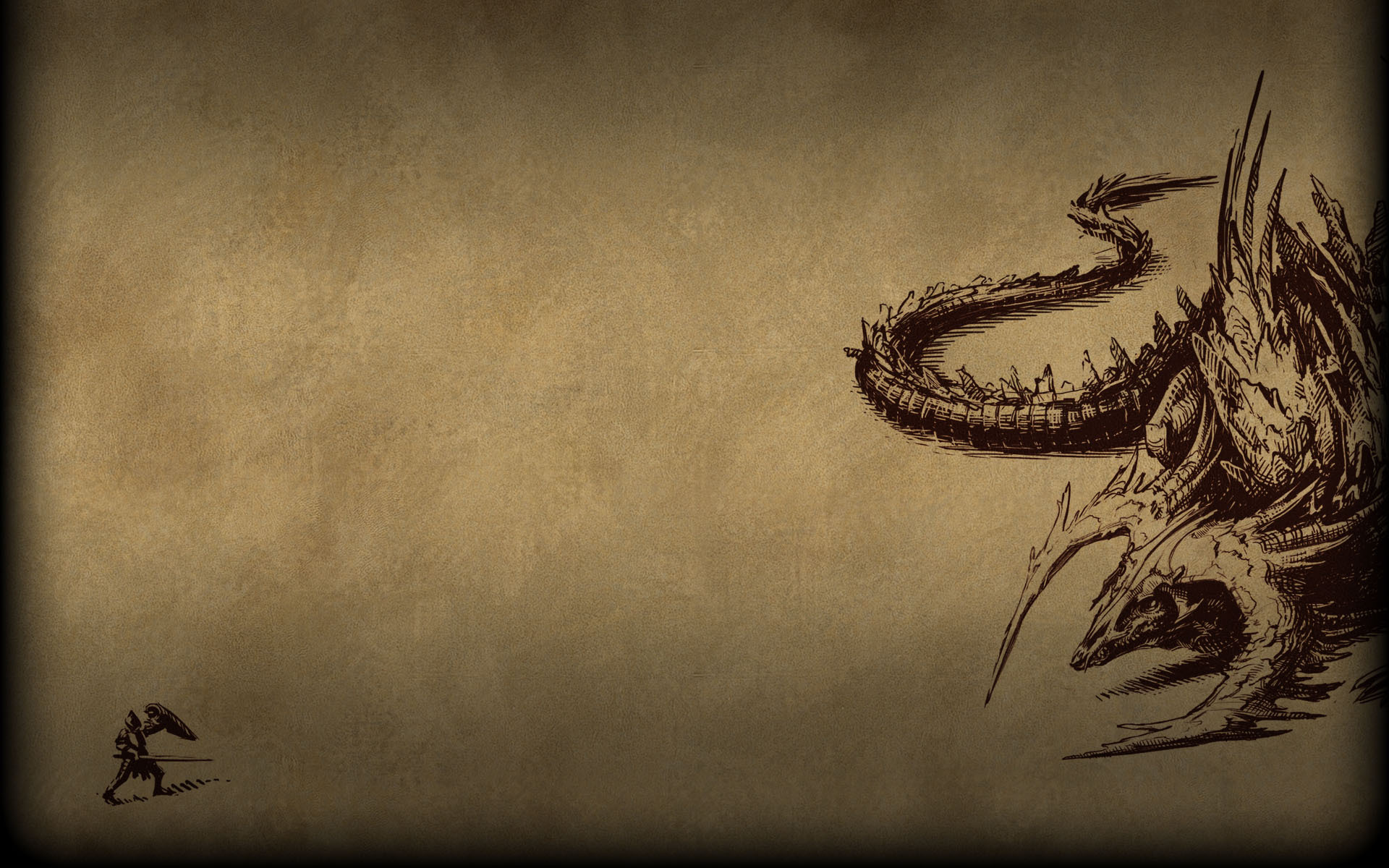 Pillars Of Eternity Background: Pillars Of Eternity Background Dragon Sketch.jpg