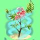 Fairy Bloom Freesia Badge Foil