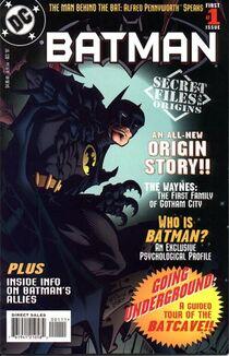Batman secret files and origins Cover 1