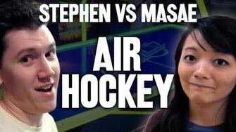 StephenPlays VS MasaeAnela - AIR HOCKEY