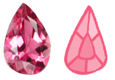 Pink tourmaline gem