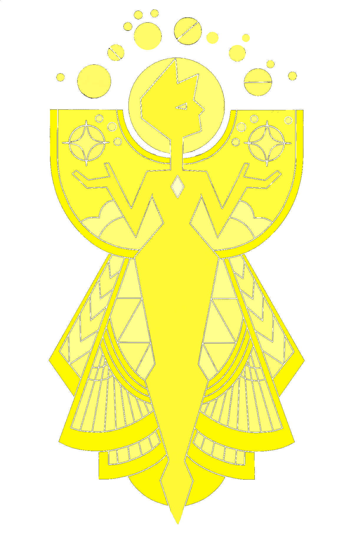 Image colored yellow steven universe wiki for Yellow diamond mural