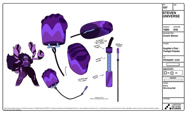 Sugilite With Weapon Model Sheet