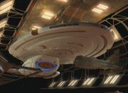 Voyager in drydock