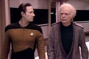 Data and Leonard McCoy
