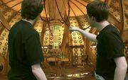 Lewis and Puto in the TARDIS