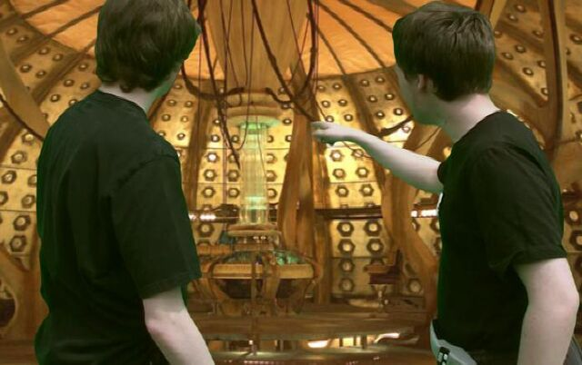 File:Lewis and Puto in the TARDIS.JPG