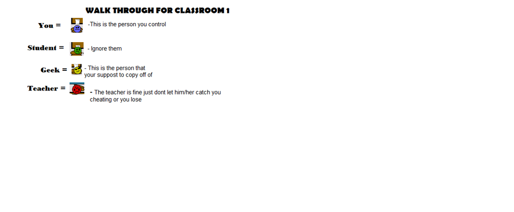 Walkthrough for Classroom1