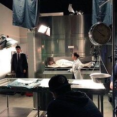 BTS from S1 at the Morgue