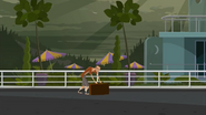 S1 E6 Mr Stevens dragging his luggage to his car
