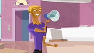 S1 E6 Bummer uses the megaphone to tell everyont they are back in VVVVVIP mode again