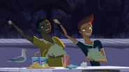 S2 E8 Johnny and Reef prepare to throw more garlic at Vlad and his brothers