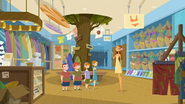 "S1 E9 Lo tells them ""This is the only surf shop with a real tree grow...eeeee!"""