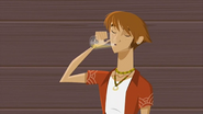 """S1 E15 Stone takes a drink as Emma tells him """"With a glass of kiddie pool water"""""""