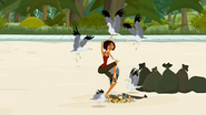 S2 E6 Kelly's bag breaks and is then attacked by seagulls