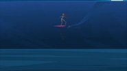 S1 E16 Emma has more success than Johnny staying on her surfboard