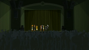 S2 E8 Many people in the theatre