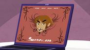 "S1 E15 Stone's website says ""Hey, I'm Stone Seabreeze and I cheat on my girlfriend. Peace!"""