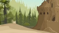 S1 E11 Reef lands out side of the sand castle